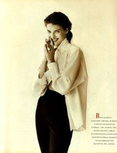 ☆ Linda Evangelista   Photography by Peter Lindbergh   For Vogue Magazine Italy…