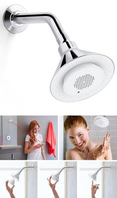 Bluetooth Shower Head by Kohler with Removable Speaker - Moxie | Shower Fixtures #bluetooth #altavoces #Ingameplay.com