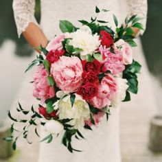 14 examples of stunning cascading bridal bouquets {Adam Barnes Fine Art Photography}