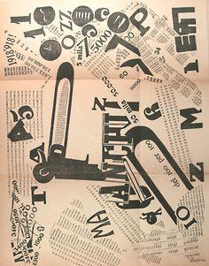 Written and designed by Filippo Tommaso Marinetti (1876-1944), 1919, Les Mots en…