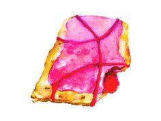 #Dribbble Poptart #llustration by Alaina Virginia | https://dribbble.com/AlainaVirginia | #Dessert #Color #Design