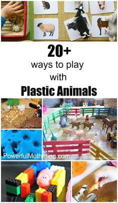 20+ Plastic Animals Activities