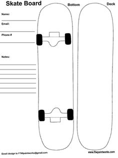 Middle school students love to design skateboards..I
