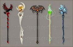Staff designs 18 (Halloween set) by Rittik-Designs on deviantART