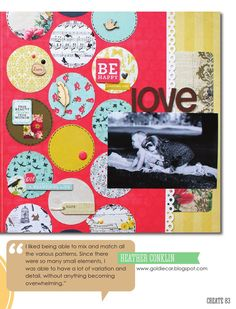 CREATE: Issue 8, August 2014  Heather Conklin right side of a 2 page LO