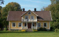 Evagården. Renoviertes Haus vollständig modern i Urshult, Småland, Schweden