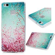 29c06190925 Huawei P9 Lite Coque - BADALINK Smartphone Case de Protection en TPU Souple  Flexible Antichoc - Fleur en Floraison