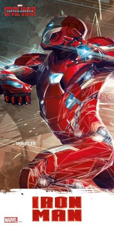 Captain America And Iron Man Fight In New Captain America: Civil War Art