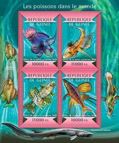 Guinea GU 15121 aFishes of the World (Synchiropus splendidus, {…}, Iriatherina werneri)