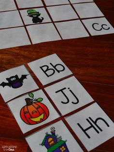 Education to the Core: FREE October Themed Letter Matching Memory Game!