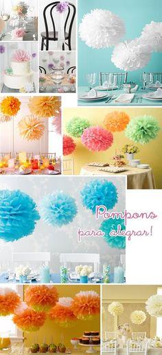 Pompones de papel para decorar