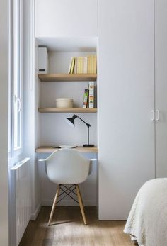 armario con zona de estudio diseñado a medida