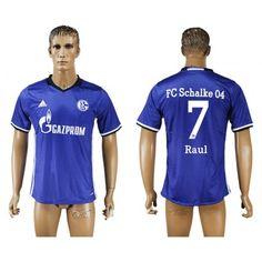 FC Schalke 04 16-17 #Raul 7 Hjemmebanetrøje Kort ærmer,208,58KR,shirtshopservice@gmail.com