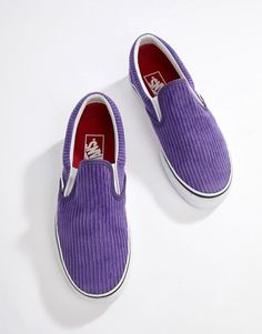 2232e19812ec Vans Exclusive Purple Corduroy Slip-On Sneakers