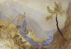 Edward Lear Corfu from Ascension Giclee Art Paper Print Poster Reproduction