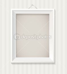 White empty frame hanging on the wall — Stock Vector #17051217