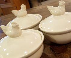 Creamware Covered Soup Bowl - Marmalade Mercantile