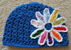 crochet d lane: Daisy Petals Girl Scout Hat