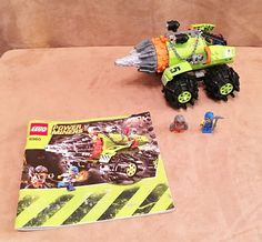 8960 Lego Complete Power Miners Thunder Driller instructions minifigure #LEGO