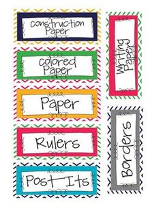 Chevron Classroom Supply Labels- Small by Teaching in a Small Town Classroom Labels, Classroom Organisation, Classroom Supplies, New Classroom, Teacher Organization, Teacher Tools, Classroom Design, Kindergarten Classroom, Classroom Themes