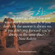 Culture Street | Quote of the Day from Nora Roberts