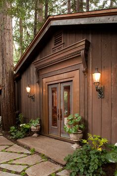 Board And Batten Siding Design Ideas, Pictures, Remodel and Decor. LOVE the mix of rustic and neoclassic design