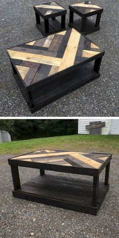 Best Wooden Pallet Furniture Projects Ideas And Tutorials – Sensod – Create. wooden pallet table with small stool palpable Do It Yourself Custom-made Wood Pallet Furniture Suggestions · recycled pallet coffee table. Do It Yourself Wood Pallet Coffee Wooden Pallet Table, Wooden Pallet Furniture, Wooden Pallets, Wooden Diy, Furniture Ideas, Pallet Wood, Pallet Bench, Garden Furniture, Furniture Design