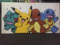 Pokemon String Art designed by Ben Wright