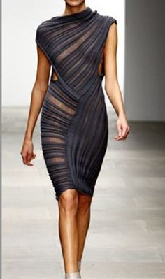 Sheer sheath dress
