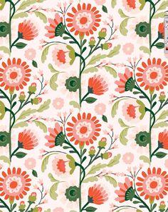 Jill De Haan - Floral 3 ways - 3 of 3 ~ beauty pattern ~ Pattern Floral, Motif Floral, Pattern Art, Flower Patterns, Color Patterns, Print Patterns, Floral Prints, Flower Pattern Design, Simple Pattern