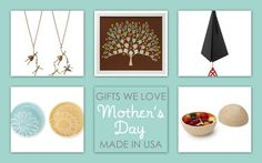 Gifts we love for Mother's Day, all made in the USA. Your mom will be so proud when you buy American. @USA Love List