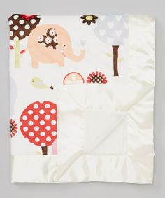 Look at this My Blankee Cream Tree & Elephant Stroller Blanket on #zulily today!