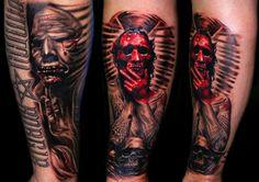Custom Tattoo, Skull, Tattoos, Color, Tatuajes, Tattoo, Colour, Tattos, Skulls