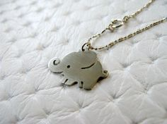 Baby Elephant Necklace - Sterling Silver. $25.00, via Etsy.