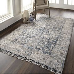 Beckstead Southwestern Teal/Gray Area Rug & Reviews | Birch Lane Living Room Carpet, Rugs In Living Room, Dining Room Rugs, Teal And Grey, Beige, Gray, Dark Blue, Dark Grey Couches, Grey Wood Floors