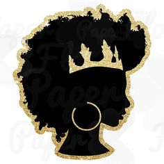 Black Queen PNG This graphic is hand drawn. You can use it to create t-shirts, tumblers, scrapbookin Black Love Art, Black Girl Art, Art Girl, African American Art, African Art, African Design, African Women, Crown Clip Art, Silhouette Png