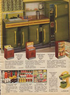 I Had A Green Metal Play Kitchen Set Like This Could Have Been Very One Not Sure But It Was Do Remember That And The Sink Run Real