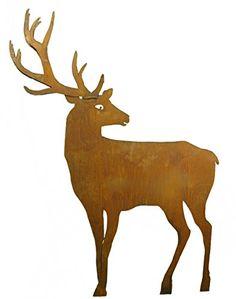 Moose Art, Balcony, Animals, Brown, Garden, Stag And Doe, Animales, Garten, Animaux
