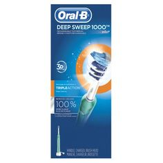 Oral-B Deep Sweep 1000 Electric Rechargeable Power Toothbrush with Extra Refill