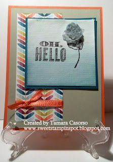Ombre. Oh, Hello. Stampin' Up!  www.sweetstampinspot.blogspot.com
