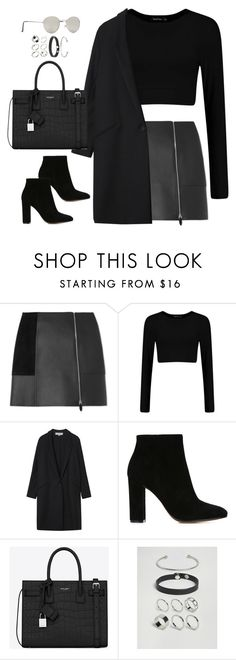 """Untitled#4610"" by fashionnfacts ❤ liked on Polyvore featuring Alexander Wang, Gérard Darel, Gianvito Rossi, Yves Saint Laurent, ASOS and Forever 21"