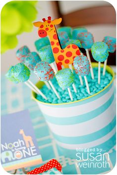 party marshmelllow pops, could be cute for lil mans first b day coming up!