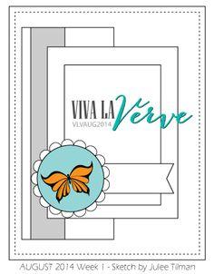 Viva la Verve Sketches: Viva la Verve August 2014 Week 1 {Sketch + Color}