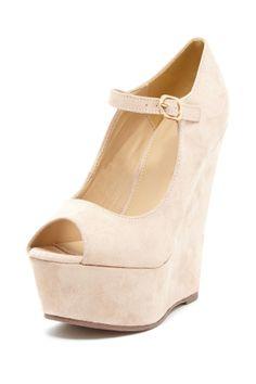 DbDk Fashion by Elegant Footwear Klenny Mary Jane Platform Wedge//