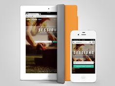 Sessions Landing Page by Handsome