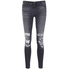 J Brand 'Skinny Leg' mid rise close cut jeans ($270) ❤ liked on Polyvore featuring jeans, black, tailored jeans, j brand skinny jeans, mid-rise jeans, medium rise jeans and denim jeans