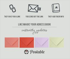 gather every address you need all at once with Postable. i am SO personally going to use this!