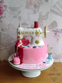 Singer sewing machine cake - Cake by Aurelia's Cake