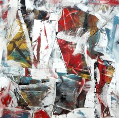 """Oil and paper on canvas, 46 x 46"""" 2021_new Abstract Expressionism, Abstract Art, Rise Art, Art Advisor, Buy Art Online, Contemporary Artwork, Medium Art, Framed Artwork, Oil On Canvas"""