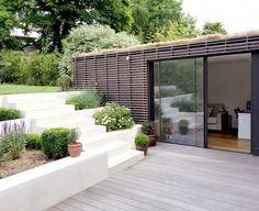 how roof garden Outdoor Spaces, Outdoor Living, Landscape Design, Garden Design, Terrasse Design, Garden Steps, Garden Studio, Stone Houses, Pergola Plans